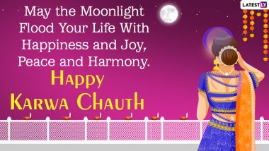 Karwa Chauth 2021 Wishes & HD Images: WhatsApp Messages, Status, GIFs, Wallpapers and SMS To Send Happy Karva Chauth Greetings
