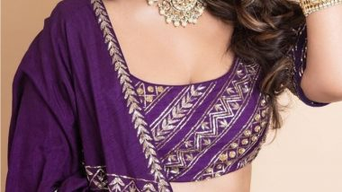 Navratri 2021 Day 9 Colour Is Purple: Celebrate The Last Day of Festival Looking Your Absolute Best