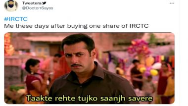 IRCTC Shares Record a New High, Netizens Flood Twitter With Funny Memes