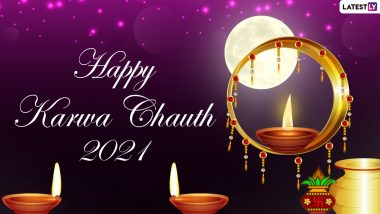 Karwa Chauth 2021 Moon Sighting Greetings, Chandra Darshan Quotes & HD Images: Celebrate Karva Chauth Moon Rise With Chand Pics, Wishes and GIF Messages