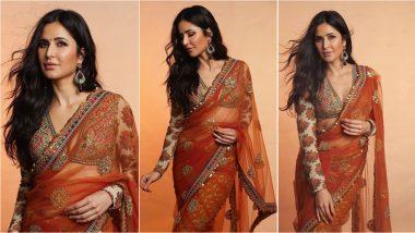 Karwa Chauth 2021 Fashion: Katrina Kaif in Sabyasachi Saree for Sooryavanshi Promotions Is a Dream Festive Outfit! (View Pics)