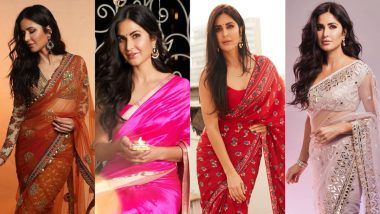 9 Times Katrina Kaif Exuded Festive Vibes in Six Yards of Sheer Elegance, Bookmark These Looks NOW!