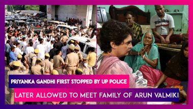 Priyanka Gandhi First Stopped, Later Allowed To Meet Family Of Arun Valmiki, A Sanitation Worker Who Died In UP Police Custody