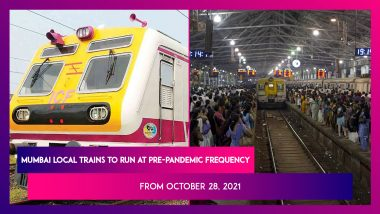 Mumbai Local Trains To Run At Pre-Pandemic Frequency From October 28, 2021