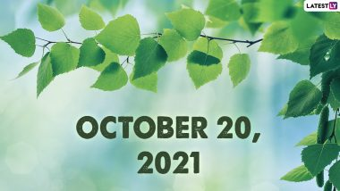 October 20, 2021: Which Day Is Today? Know Holidays, Festivals and Events Falling on Today's Calendar Date