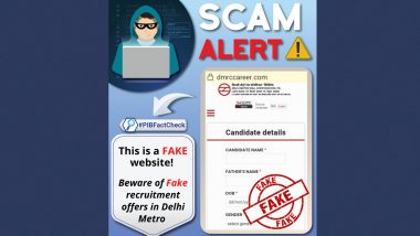 Fake Website Impersonating DMRC Invites Application for Various Posts, PIB Fact Check Reveals Truth