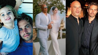 Paul Walker's Daughter Meadow Walked Down the Aisle by Vin Diesel, Her Godfather! View Beautiful Wedding Pics