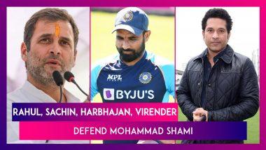 Rahul Gandhi, Sachin Tendulkar, Harbhajan Singh, Virender Sehwag, Irfan Pathan Defend Mohammad Shami After Team India Lose To Pakistan In T20 World Cup