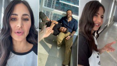 Sooryavanshi: Katrina Kaif Captures Akshay Kumar and Rohit Shetty's Film Promotion Mood and It's Hilarious! (Watch Video)