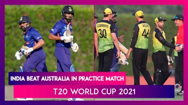 T20 World Cup 2021 India Beat Australia in Warm up Match