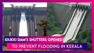 Kerala: Idukki Dam's Shutters Opened For First Time Since 2018 To Prevent Flooding, Watch Visuals