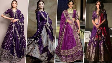 Navratri 2021 Day 9 Colour Purple:Mira Rajput, Alia Bhatt and Other Celebrity Styles to Seek Inspiration From (View Pics)