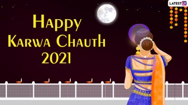 Karwa Chauth 2021 Chand Timings in Delhi, Gurugram, Ambala, Ludhiana and Chandigarh: Know October 24 Moon Rise Time in These Cities