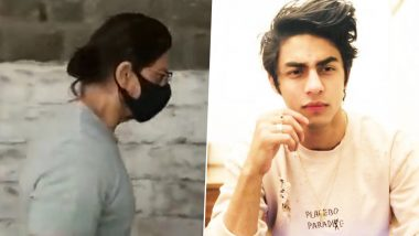 Shah Rukh Makes His First Public Appearance Post Aryan Khan Drug Case; Visits Son Lodged at Arthur Road Jail (Watch Video)