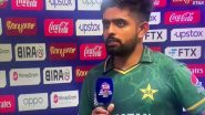 Use of Word 'Kufr' by Bazid Khan While Interviewing Babar Azam During India vs Pakistan Post Match Presentation Creates Uproar on Twitter