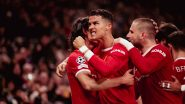 Cristiano Ronaldo Takes Over Lionel Messi in Terms of Scoring Most Number of Non-Penalty Goals, Reaches Milestone During Manchester United vs Atalanta in UCL 2021-22, (Watch Goal Highlights)