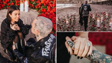 Kourtney Kardashian Shares A Series Of Unseen Pictures With Fiancé Travis Barker From Their Engagement Day!