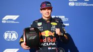 Max Verstappen Attains Pole Position for Ninth Time in 2021, Outraces Lewis Hamilton in Qualifying Round of US Grand Prix 2021 (Watch Video)