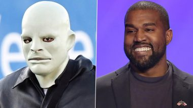 Kanye West Performs at Venice Wedding in Creepy Mask