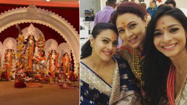 Kajol Kick-Starts Durga Ashtami Celebrations With Mother Tanuja and Sister Tanishaa Mukerji (View Pics)