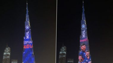 India Jersey For T20 World Cup 2021: Burj Khalifa Showcases Indian Team's New Kit Ahead Of WC (See Video)