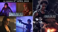 Dhaakad New Release Date: Kangana Ranaut, Arjun Rampal and Divya Dutta's Film To Release in Theatres on April 8, 2022!