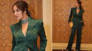 Malaika Arora Makes a Compelling Case for Power Dressing, Stuns in a Bottle Green Pantsuit