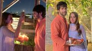 Varun Dhawan Shares Beautiful Pictures With Wifey Natasha Dalal As They Celebrate Karwa Chauth for the First Time (View Pics)