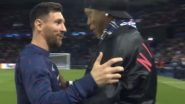 Lionel Messi & Ronaldinho Share a Warm Hug With Each Other Before the Start of PSG vs RB Leipzig, UCL 2021-22 (Watch Video)