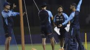 MS Dhoni Helps Team India in the Nets Ahead of T20 World Cup 2021 Match Against Pakistan (Watch Video)