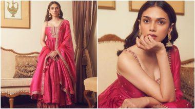 Dusshera 2021: Aditi Rao Hydari's Pink Punit Balana Outfit Has Festive Written All Over It (View Pics)
