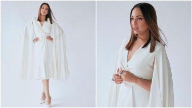 Yo or Hell No? Sonakshi Sinha's White Cape Dress By Gauri & Nainika