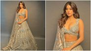 Janhvi Kapoor's Diwali Comes Early, Actress Stuns in a Blingy Manish Malhotra Outfit
