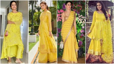 Navratri 2021 Day 1 Colour Yellow: Let Hina Khan, Alia Bhatt and Others Show You How To Wear This Colour in Style (View Pics)