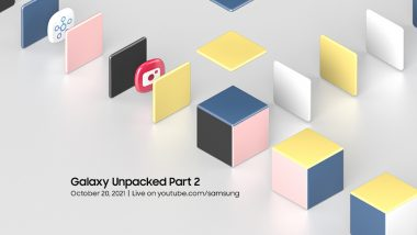 Samsung Galaxy Unpacked Part 2 Event Confirmed for October 20, 2021; Galaxy S21 FE Launch Expected