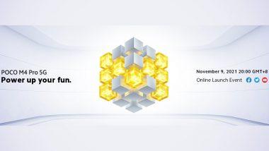 Poco M4 Pro 5G Global Launch Set for November 9, 2021