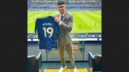 Shubman Gill Poses With Mason Mount's Jersey After Chelsea Star Net's Hat-Trick Against Norwich City
