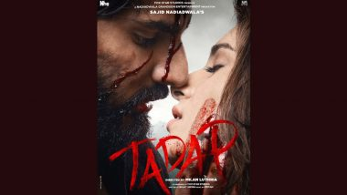 Tadap: Ahan Shetty And Tara Sutaria Look Great Together In This Raging Love Story (View Poster)