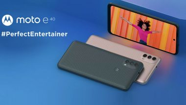 Motorola Moto E40 With 5,000mAh Battery Launched in India at Rs 9,499