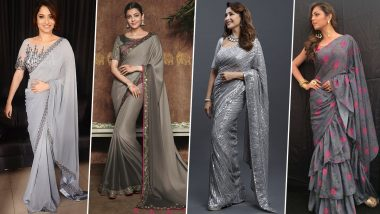 Navratri 2021 Day 3 Colour Grey: Kajal Aggarwal, Ankita Lokhande and Others Can Teach You How to Deck Up in Style (View Pics)