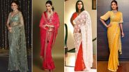 Karwa Chauth 2021: Deepika Padukone, Anushka Sharma and Other Celeb-Inspired Sarees to Flaunt On This Special Day (View Pics)