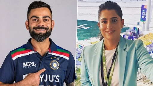Virat Kohli and Sana Mir. (Photo Credits: Facebook)