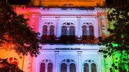 Old Currency Building in Kolkata Illuminated in Colours of Tricolour to Mark India's 100 Crore COVID-19 Vaccination Milestone (See Pics)